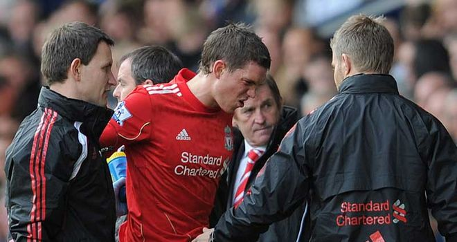 Agger: Fresh injury setback for the Liverpool defender who is ruled out for a month