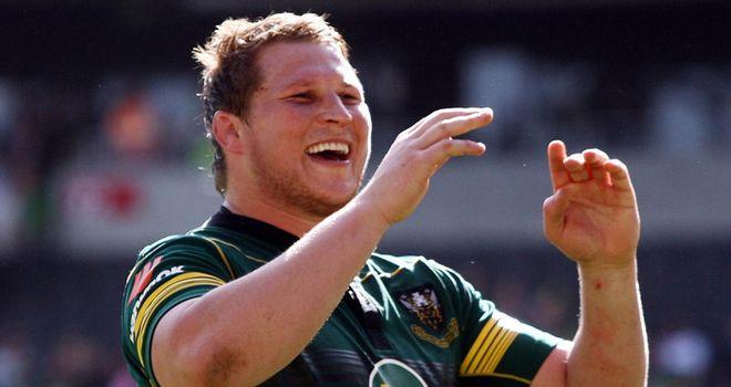 Hartley: Celebrates success over Ulster in the Heineken Cup quarter-final