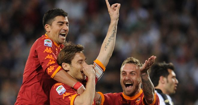 Totti: Hopes to carry on playing for Roma in the coming years