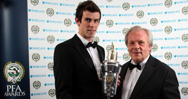 Bale with PFA chief Taylor - who needs to reform the voting process and timing