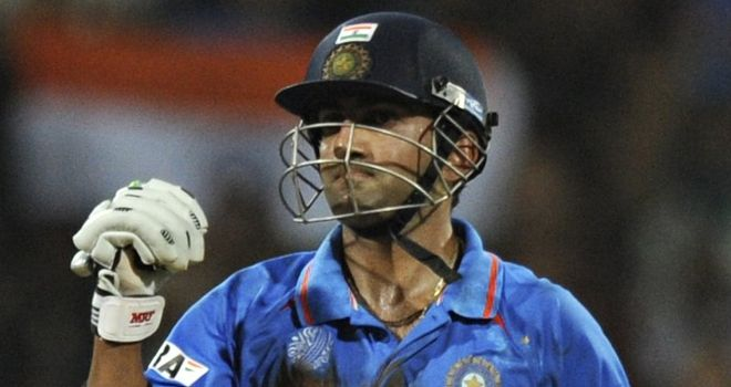Gambhir will captain India's ODI squad in the Caribbean