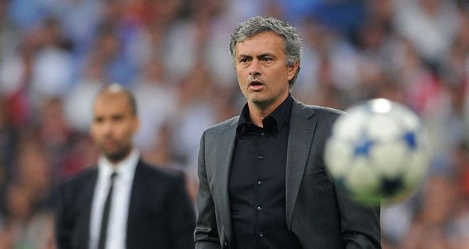 One that got away: Mourinho on the line before being sent to the stands in Wednesday's first leg