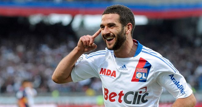 Lisandro Lopez: The Lyon hitman stuck a first-half hat-trick against neighbours Lyon Duchere