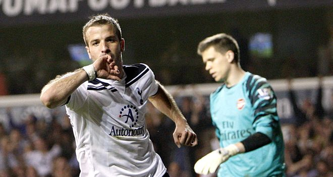 Van der Vaart: Pleased with the way his first Spurs campaign has gone