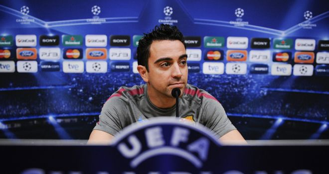 Xavi: Admires Manchester United and is anticipating a difficult match