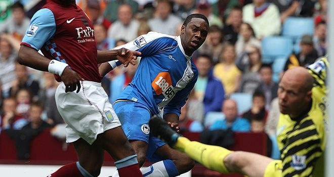 Opening goal: Charles N'Zogbia put Wigan ahead in the tight encounter
