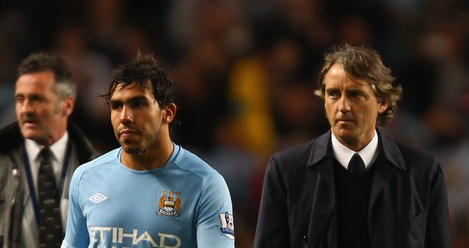 Roberto Mancini: Has offered an olive branch to Carlos Tevez in their ongoing row