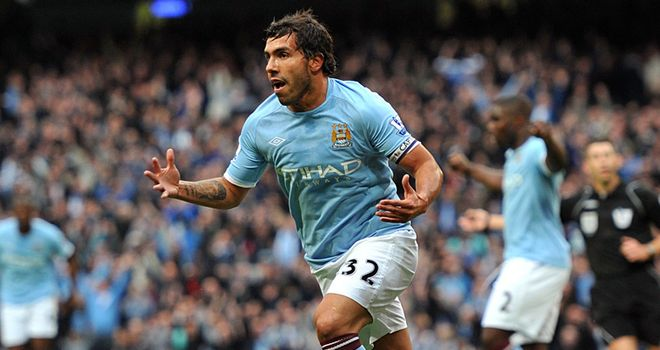 Tevez: City skipper bagged a brilliant brace against Stoke to lift his side up to third
