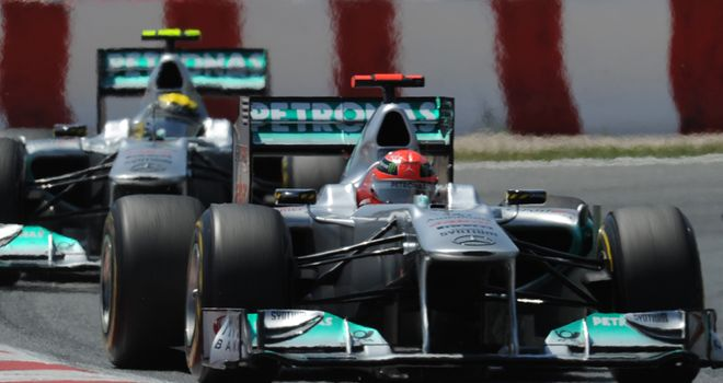 Schumacher: Finished sixth ahead of Rosberg