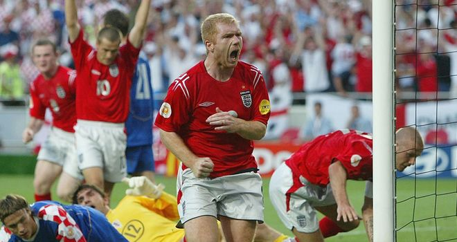 Scholes: Called time on his England career in the wake of Euro 2004
