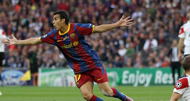 Pedro: Scored the opening goal in the Champions League final