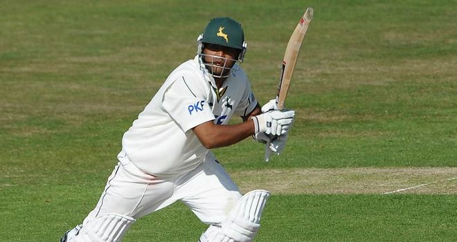 Patel: Smashed 52 runs from 23 balls in Notts' record breaking t20 total