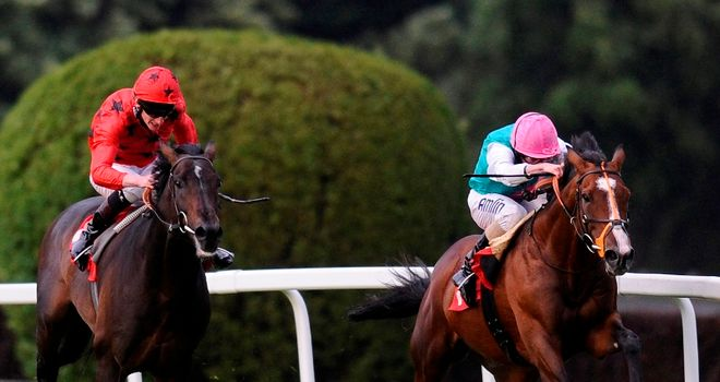 Workforce beats Poet to win the Brigadier Gerard Stakes at Sandown Park