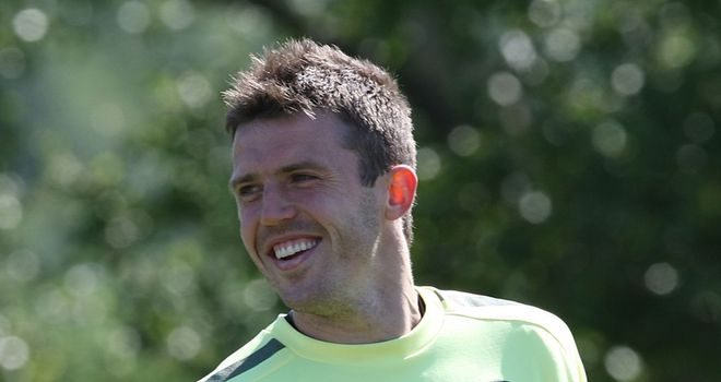 Carrick: Rested after sustaining a minor injury in the Champions League final
