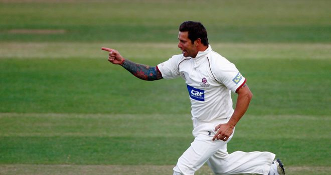 Trego: helped Somerset to victory with 4-22