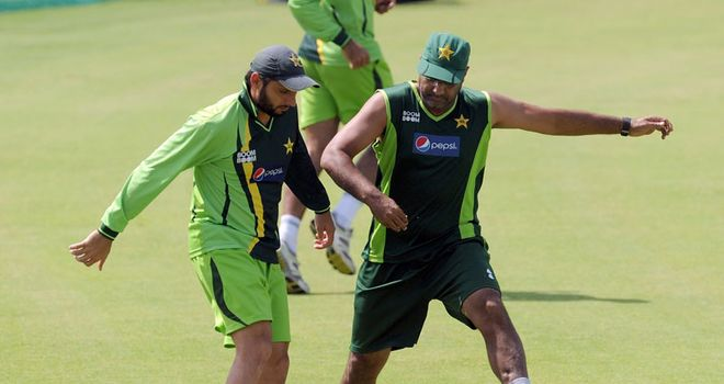Conflict: cracks have appeared in the relationship between Afridi (left) and Waqar