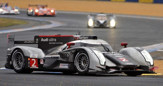 Audi triumph: The winning R18 TDI of Andre Lotterer, Marcel Fassler and Benoit Treluyer