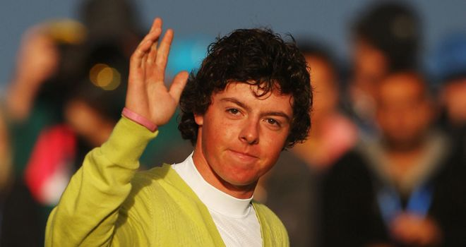 Rory McIlroy at Carnoustie in 2007
