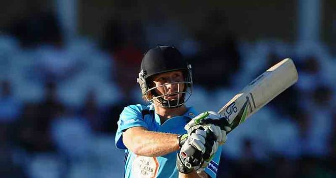 Guptill: Smashed 13 boundaries to lead Derbyshire to a CB40 double over Yorkshire