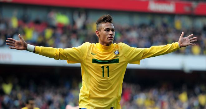 Neymar: The teenage sensation will remain with Santos until at least 2014