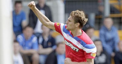 Jelavic: Celebrates his goal for Rangers