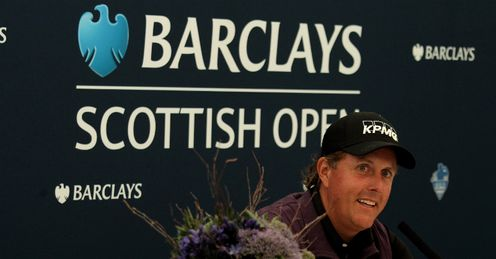 Links practice: mickelson is playing at castle stuart the week before