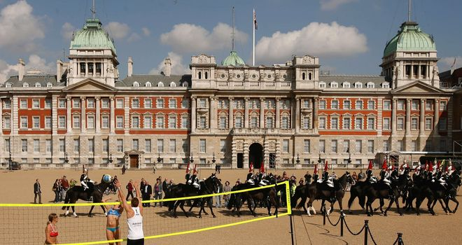Horse Guards Parade: Dramatic backdrop for Games