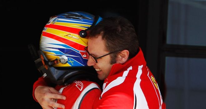 Big asset: Domenicali with Alonso