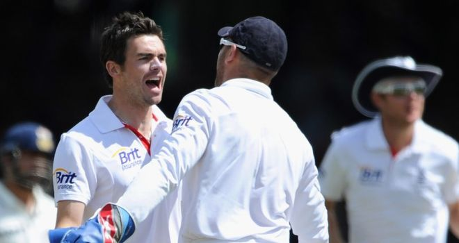 Anderson: happy with his form ahead of second Test at Trent Bridge