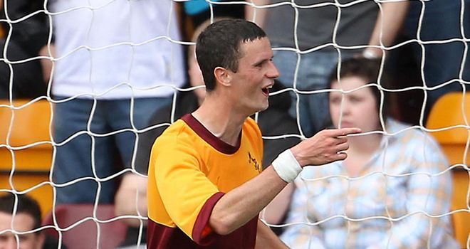 Murphy: Attracting Premier League interest but has been urged to stay at Motherwell by his manager