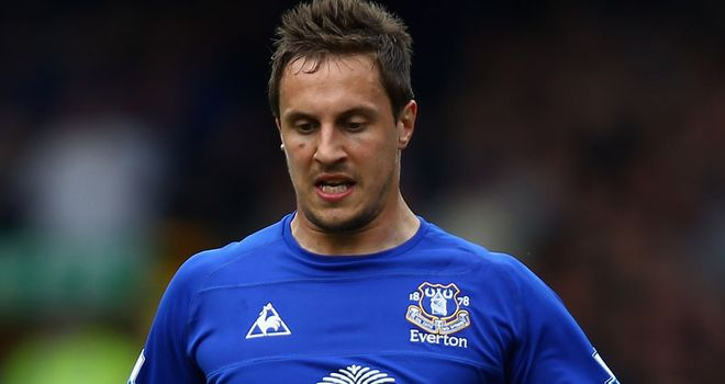 Jagielka: Has been strongly linked with a move to Arsenal