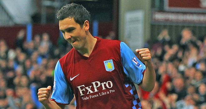 Downing: The England winger has two years left on his contract at Aston Villa