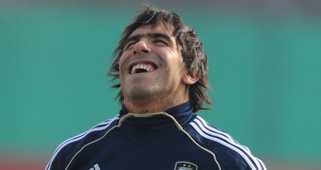 Tevez: Hailed by compatriot Milito