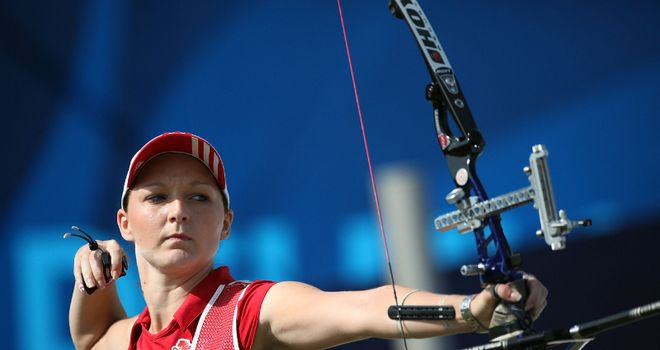 Amy Oliver: The GB archer in action