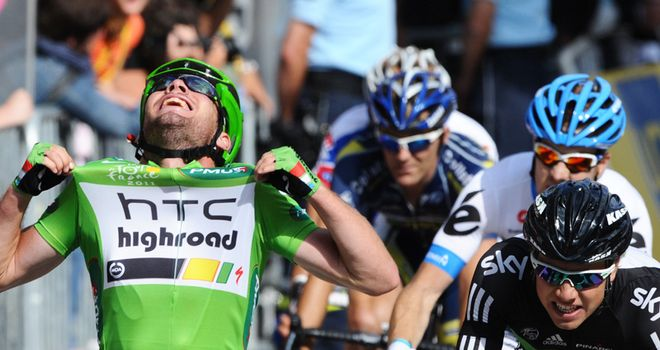Cavendish: Took his fifth win of this year's Tour and his 20th in total