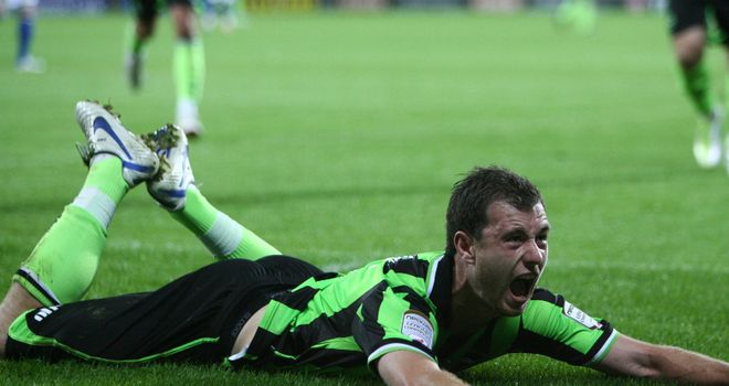 Barnes: Netted from the spot for Brighton