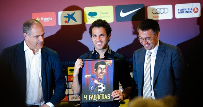 Fabregas: Returned to Barcelona on Monday but Wenger could have got more money