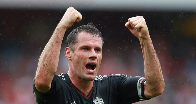 Carragher: Delighted with Liverpool's 2-0 over Arsenal at the Emirates