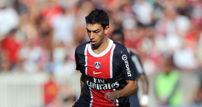 Pastore: Made his debut for PSG in Sunday's 2-1 win over Valenciennes