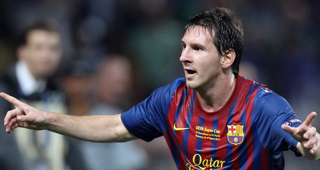 Messi: Was rumoured to be the subject of an unsuccessful big-money bid from City