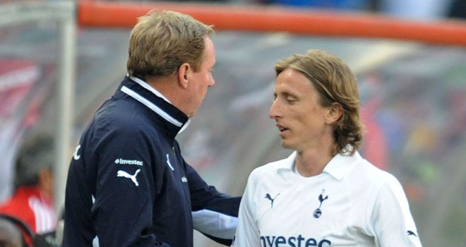 Harry Redknapp with Luka Modric: The Spurs boss admits he may need to sell to bring in new players