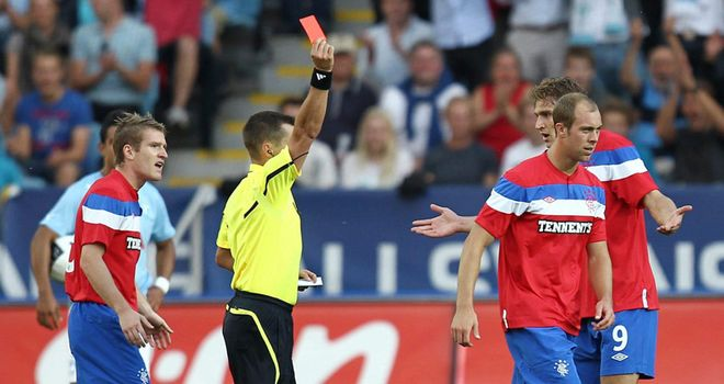 Whittaker: Rangers intend to appeal against the three-match ban for full-back's red card against Malmo