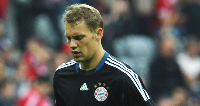 Neuer: Subjected to offensive chants during Bayern's 2-0 victory over Schalke