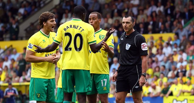 Barnett: Norwich have decided not to appeal against his ban