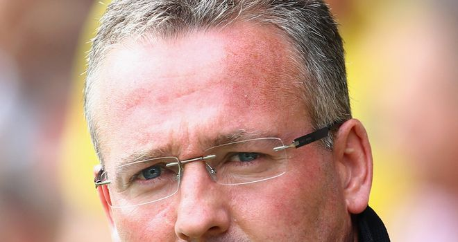 Lambert: Still waiting on his first win of the Premier League season with Norwich