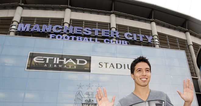 Nasri: Believes he has a better chance of winning trophies at City