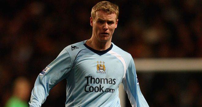 Ball: In action with his last club Manchester City in the Premier League