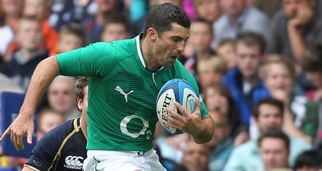 Kearney: back in action for Ireland after a lengthy spell on the sidelines