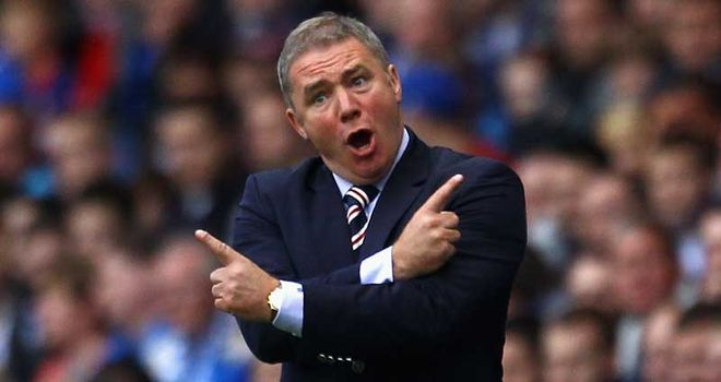 McCoist: Wants consistency from his Rangers players following their Falkirk defeat