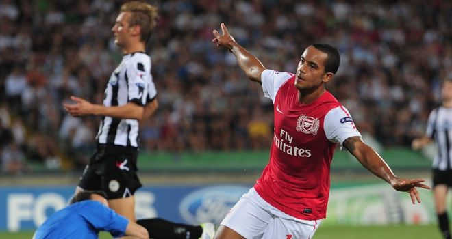 Walcott: Raced clear to end the tie as a contest